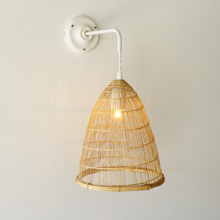 reputable site f78b3 7acff Bamboo Wall Sconce (Cone)